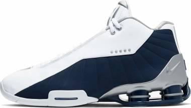 Nike Shox BB4 - White/Metallic Silver-midnight Navy (AT7843100)