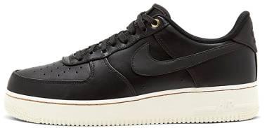 Nike Air Force 1 Premium - Black / Black-gum Med Brown-sail (654440009)