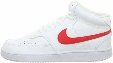 Nike Court Vision Mid - White University Red Cd5466 105 (CD5466105)