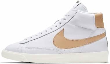 Nike Blazer Mid Premium - White/Vachetta Tan-black-metallic Gold (CU6679100)