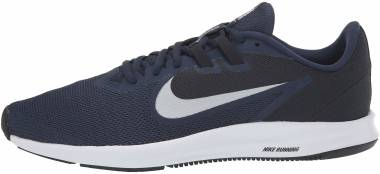 Nike Downshifter 9 - Blue Midnight Navy Pure Platinum Dk Obsidian Black White 401 (AQ7481401)