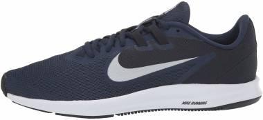 Nike Downshifter 9 - Blue Midnight Navy Pure Platinum Dk Obsidian Black White 401 (AQ7481401)