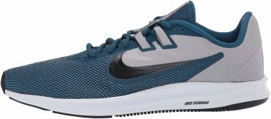 Nike Downshifter 9 - Gris Atmosphere Grey Topaz Mist Blue Force Mtlc Pewter White 009 (AQ7481009)