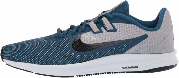 Nike Downshifter 9 - Atmosphere Grey/Topaz Mist - Blue Force (AQ7481009)