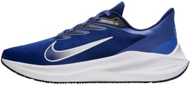Nike Air Zoom Winflo 7 - Deep Royal Blue / White / Hyper Blue / Black (CJ0291401)