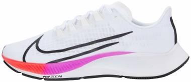 Nike Air Zoom Pegasus 37 - White Flash Crimson Hyper Violet Spruce Aura Vapor Green Black (BQ9647103)