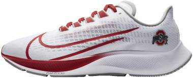 Nike Air Zoom Pegasus 37 - White Pure Platinum Pewter Grey University Red (CZ5385100)
