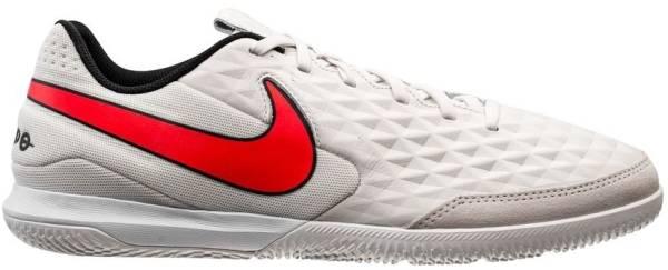Nike Tiempo Legend 8 Academy Indoor - Platinum Tint Bright Crimson White (AT6099061)