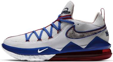 Nike Lebron 17 Low - White/Blue/Red (CD5007100)