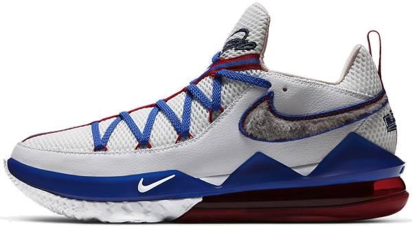 Nike Lebron 17 Low - White/Blue/Red (CD5007100)