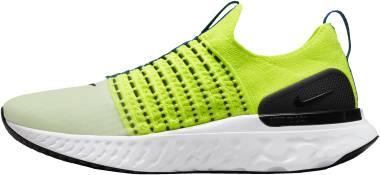 Nike React Phantom Run Flyknit 2 - Volt White Game Royal Black (DM7603700)