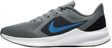 Nike Downshifter 10 - Particle Grey Black Smoke Grey Photo Blue (CI9981014)