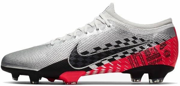 Nike Mercurial Vapor 13 Pro Neymar Jr. Firm Ground - Chrome/Red Orbit/Platinum Tint/Black (AT7904006)