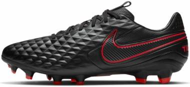 Nike Tiempo Legend 8 Pro Firm Ground - Black/Dk Smoke Grey-chile Red (685135800)