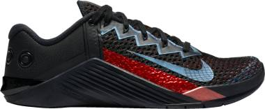 Nike Metcon 6 Mat Fraser - Black Bright Crimson Metallic Silver Black (CW6882006)