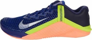 Nike Metcon 6 - Deep Royal Blue Mtlc Platinum Brt Mango Blackened Blue Cyber (CK9388400)