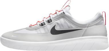 Nike SB Nyjah Free 2 - Neutral Grey White Bright Crimson Black (BV2078007)