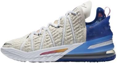 Nike Lebron 18 - Light Cream Game Royal Spiral Sage Pink Glow (DB8148200)