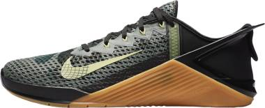 Nike Metcon 6 FlyEase - Black Gum Medium Brown Limelight Limelight (DB3790032)