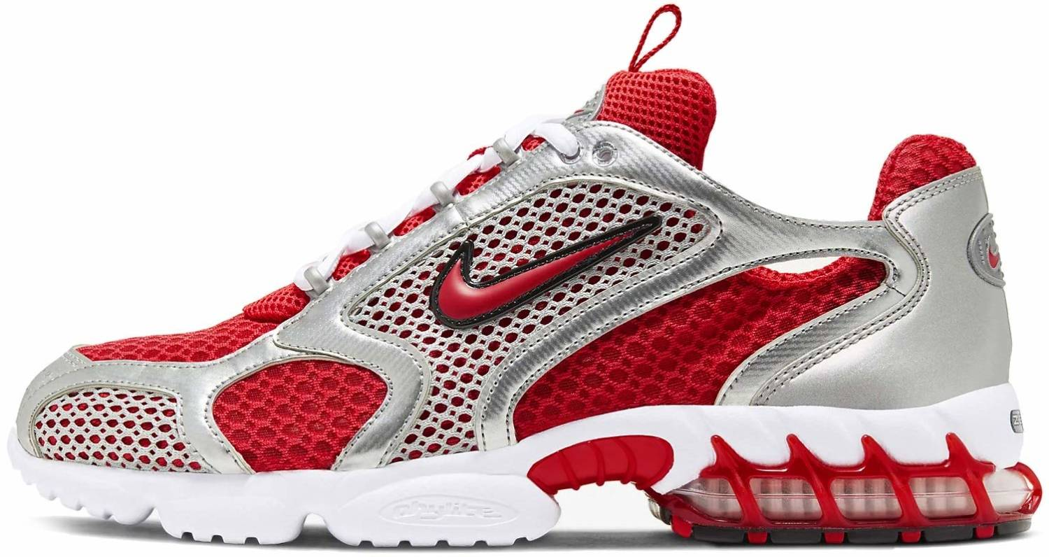 Nike Air Zoom Spiridon Cage 2 sneakers in red green (only £110 ...