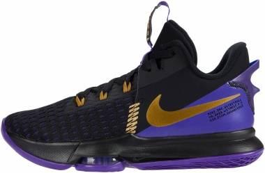 Nike Lebron Witness 5 - Black Fierce Purple Metallic Gold (CQ9380003)