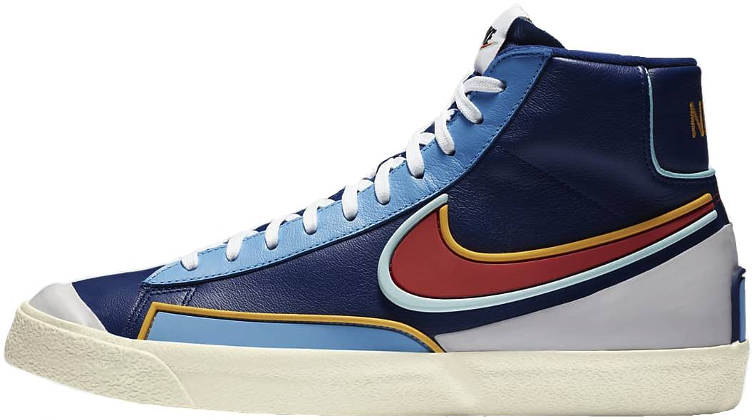 Nike Blazer Mid 77 Infinite sneakers in blue white (only £76 ...