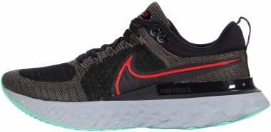 Nike React Infinity Run Flyknit 2 - Ridgerock / Chile Red / Black / Green Glow (CT2357200)