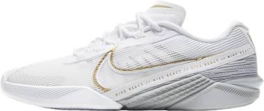 Nike React Metcon Turbo - White/Metallic Gold-lt Smoke Grey (CT1249100)