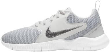 Nike Flex Experience Run 10 - White Mtlc Silver Platinum Tint Lt Smoke Grey (CI9964100)