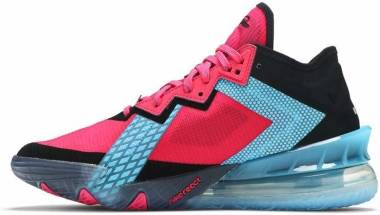 Nike Lebron 18 Low - Fireberry/Black/Light Blue Fury (CV7562600)