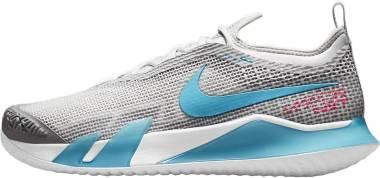 NikeCourt React Vapor NXT - Grey Fog Hyper Pink White Chlorine Blue (CV0724024)