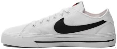 Nike Court Legacy Canvas - White Black (CW6539101)
