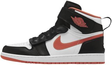 Air Jordan 1 Hi FlyEase - Black White Turf Orange (CQ3835008)
