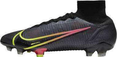 Nike Mercurial Superfly 8 Elite FG - Black Cyber Off Noir Rage Green Siren Red (CV0958090)