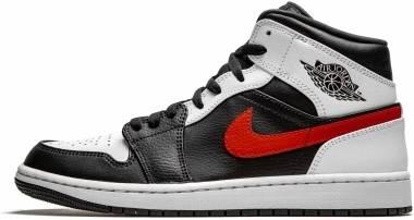 Air Jordan 1 Mid - Black Chile Red White (554724075)