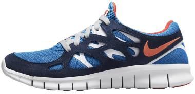 Nike Free Run 2 - Light Photo Blue Midnight Navy White Orange (537732403)