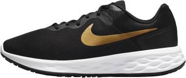 Nike Revolution 6 - Black/White/Metallic Gold (DD8475002)