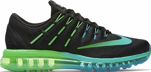 Nike Air Max 2016 men black/multi-color/midnight turquoise/clear jade