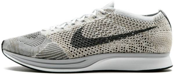 Nike Flyknit Racer men pure platinum/cool grey/white/neutral olive