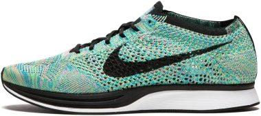 Nike Flyknit Racer - Green Strike,Blue Lagoon,Pink Pow,Black (526628304)