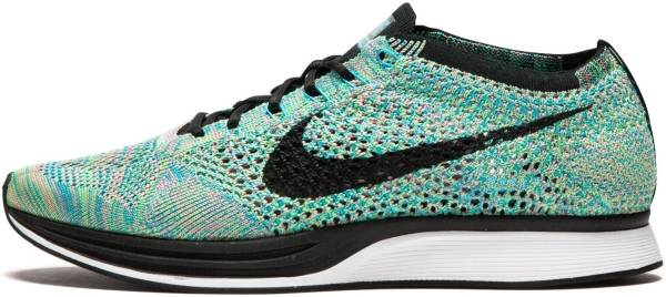 womens nike flyknit racer blue black