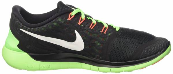 Nike Free 5.0 men black/voltage green/dark grey/white