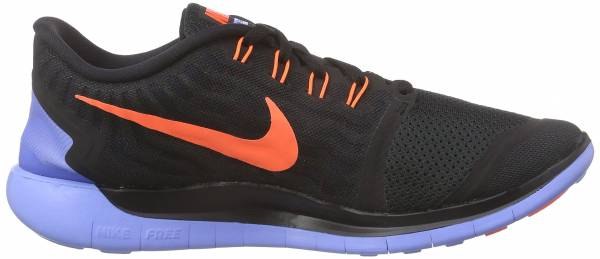 Nike Free 5.0 woman black (schwarz/kreideblau/hyper-orange 008)