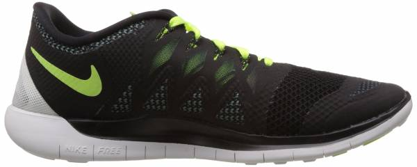 Nike Free 5.0 men black/volt-magnet grey-summit white