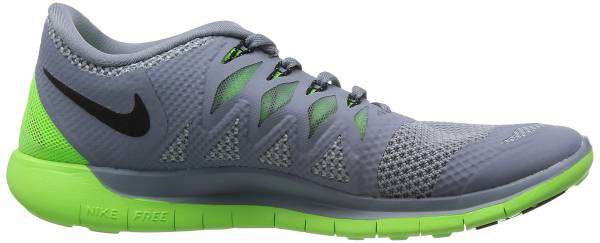 Nike Free 5.0 men mgnt gry/blk/elctrc grn/lt mgn