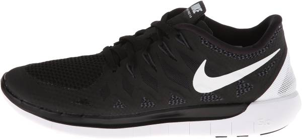Nike Free 5.0 Girls' Grade School Running Shoes Black/Hyper