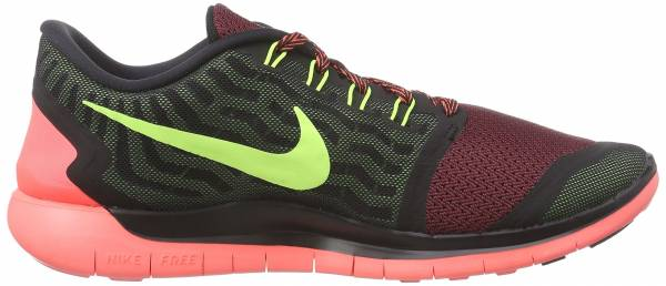 Nike Free 5.0 men black/volt-gym red-university red