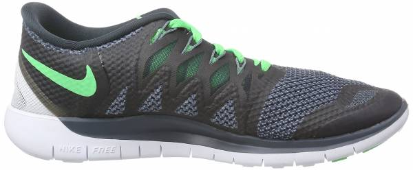 Nike Free 5.0 men nero (black/poison green/clssc chrcl)