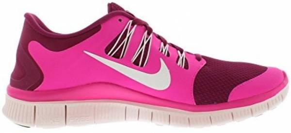 Nike Free 5.0 men raspberry red/summit white/pink flow