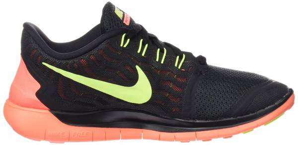 Nike Free 5.0 woman black/bright mango/volt